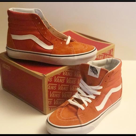6050d209d8da NIB Orange 🍊 Sk8-Hi Vans!!!
